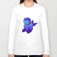 mega man Long Sleeve T-shirts featuring Mega-Man Whale by CoolBreezDesigns