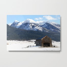 Winter in the Mission Mountains Metal Print