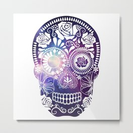 Mexican Skull Space V2 Metal Print