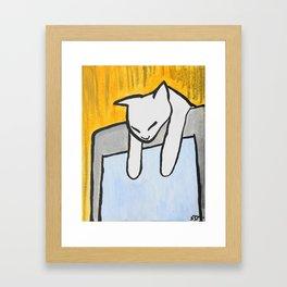 Sleeping on the Monitor Framed Art Print