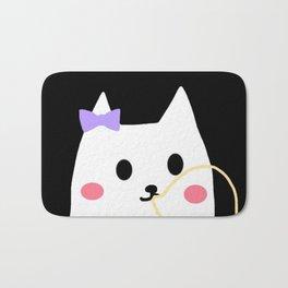 cat chewing gum-24 Bath Mat