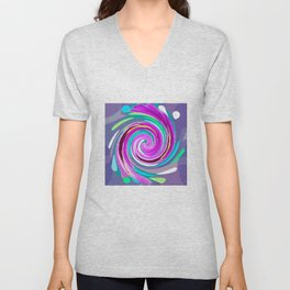 Purple twirl Unisex V-Neck
