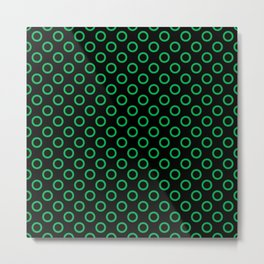 Green Rings with Black Background Metal Print