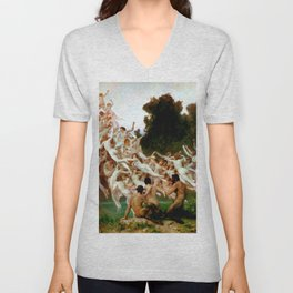 "William-Adolphe Bouguereau ""Les Oréades (The Oreads)"" Unisex V-Neck"