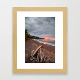 Sunrise over Lake Superior Framed Art Print