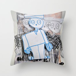 PEOPLE iN SUiTS Throw Pillow