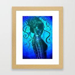 Moody Blue  Framed Art Print