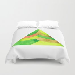 Green triangle Duvet Cover