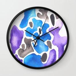 170623 Colour Shapes Watercolor 7 Wall Clock