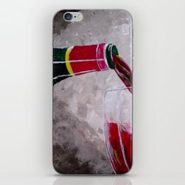 Pouring Red iPhone Skin