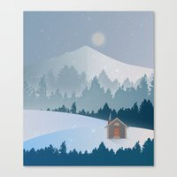 cabin Canvas Prints featuring Cabin by Eric-Bird