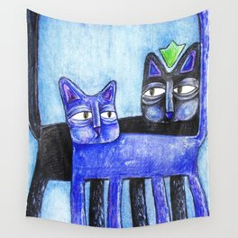 Cat King Wall Tapestry