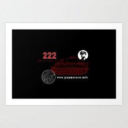 Michael Wittmann Panzer Ace 222 Villers Bocage Black Art Print