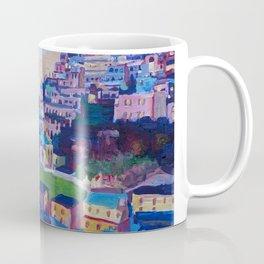 Retro Vintage Style Travel Poster Amazing Amalfi Coast At Sunset Coffee Mug