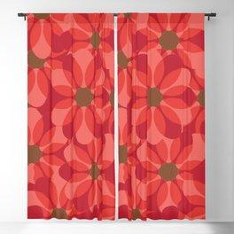 Vintage 1970's Pink Spring Flowers Pattern Blackout Curtain