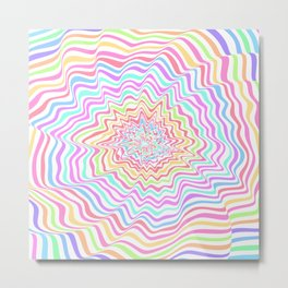 Bright ripples Metal Print