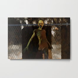 Zombie - Undead Horror Artwork Metal Print