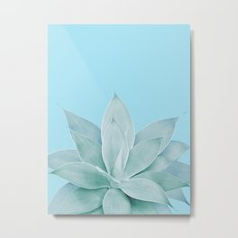 Light Blue Agave #1 #tropical #decor #art #society6 Metal Print