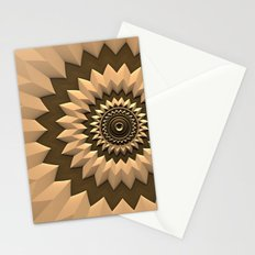 Mocha Mandala Stationery Cards
