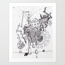 Walking Home Contraption Art Print