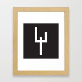 Zeichen / Sign Framed Art Print