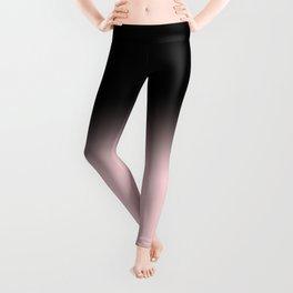 Modern abstract elegant black blush pink gradient pattern Leggings