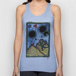 Lizarde Sees Oil Spots In The Sky. Unisex Tank Top