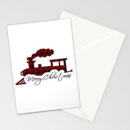 Merry Christmas train Stationery Cards