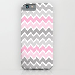 Grey Gray Pink Ombre Chevron iPhone Case