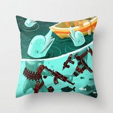 Dolphin Assassins Throw Pillow