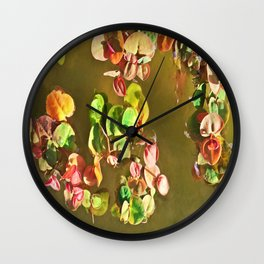 Funny water plants Wall Clock