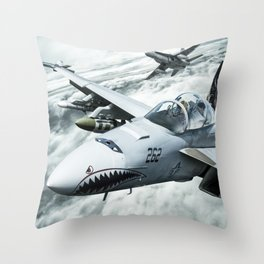 Ghost Rider this is Mustang... vector 090 for Boggie Throw Pillow