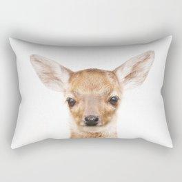 Baby Deer Animals Art by ZouzounioArt Rectangular Pillow