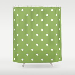 Dots Green Shower Curtain