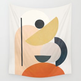 Modern Shapes 02 Wall Tapestry