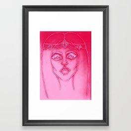 Pink Gypsy Girl Framed Art Print