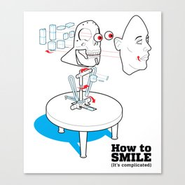 How to Smile Canvas Print