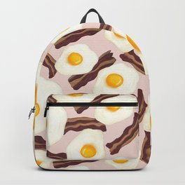 Bacon and Eggs Pink Backpack