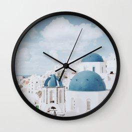 Santorini III / Greece Wall Clock