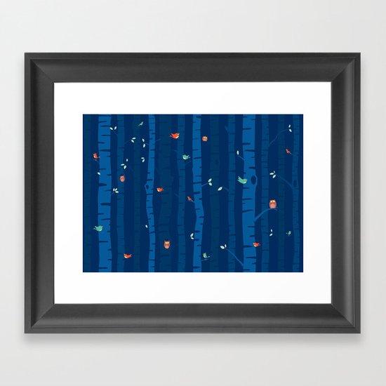 Night Trees Framed Art Print