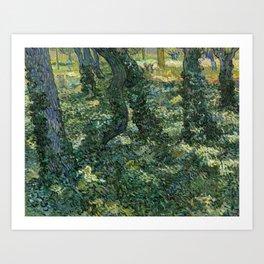 Vincent van Gogh - Undergrowth, 1889 Art Print