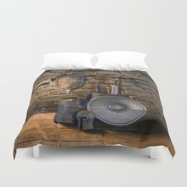 Medieval Weaponry Duvet Cover