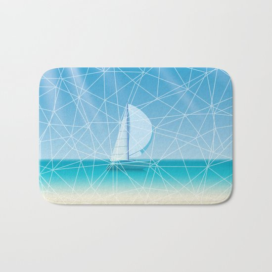 Geometric sea Bath Mat