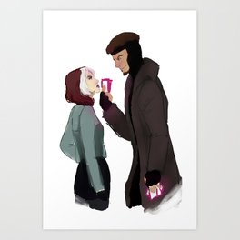 Rogue and Remy Art Print