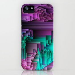 Right About Now - Abstract Glitch Pixel Art iPhone Case