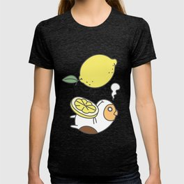 Guinea pig and fruits pattern T-shirt
