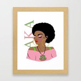Alpha Kappa Alpha (Divine Nine Series) Framed Art Print
