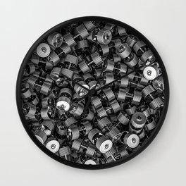 Chrome dumbbells Wall Clock