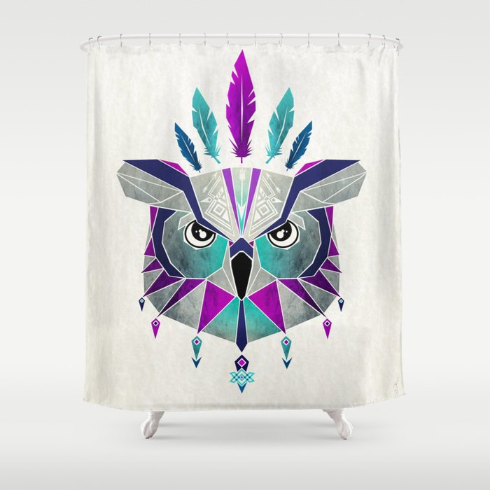 owl king Shower Curtain