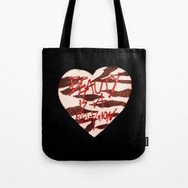 BeautyIsAReligion `ZEBRA HEART` Tote Bag